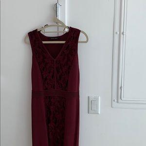 Cynthia Steffe size small maroon tight dress